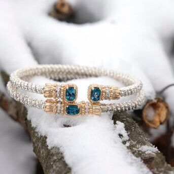Snow is pretty when you add in some gemstones   VAHANstyle VAHANjewelry gemstones gemstonebracelets