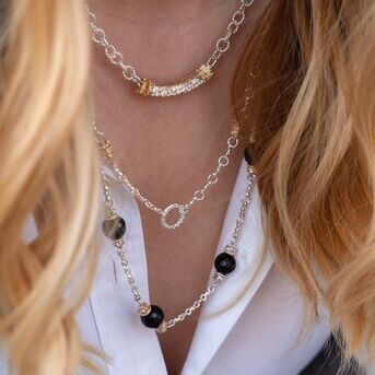 Its time to up your necklace layering game. Our necklaces are so easy to layer you can just throw t