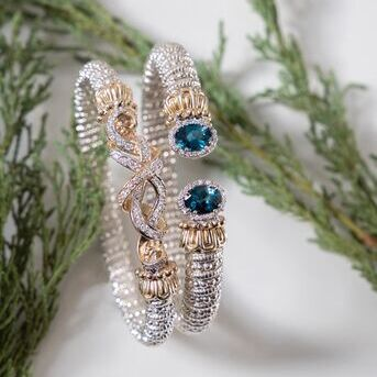 Winter blues dont have to be sad. London blue topaz adds the perfect pop of color to these grey day