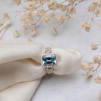 We cant think of a better stone for spring than Sky Blue Topaz. Its the perfect color for those war